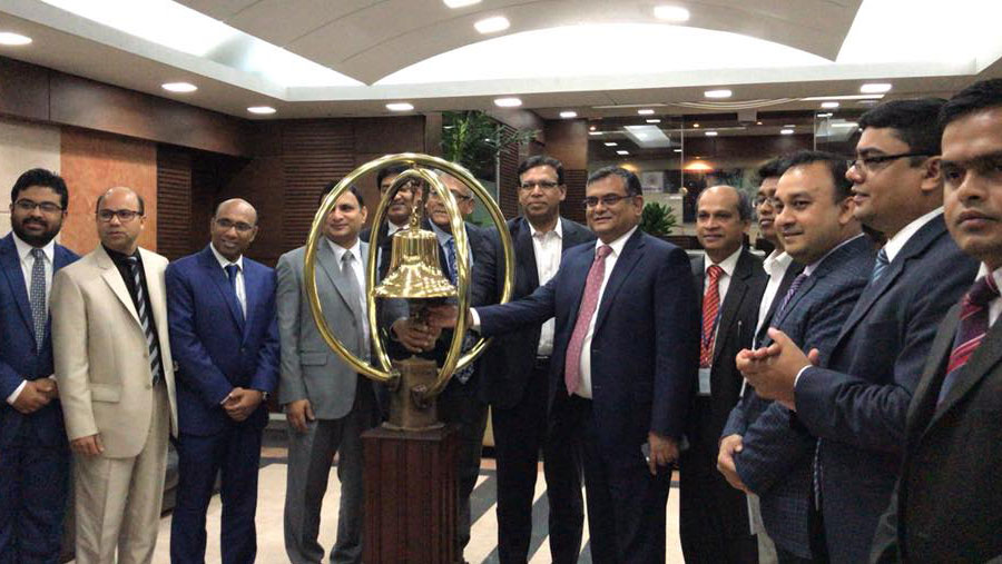 Inauguration of share trading of aamra networks limited