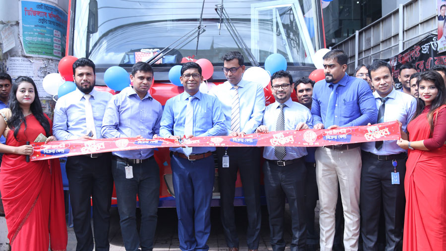 RFL displays its products on mobile bus
