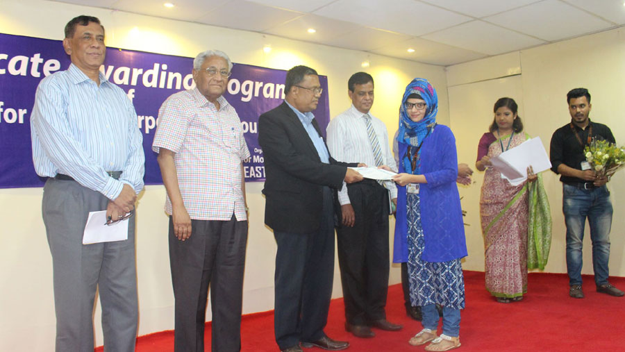 Certificate giving ceremony at SEU