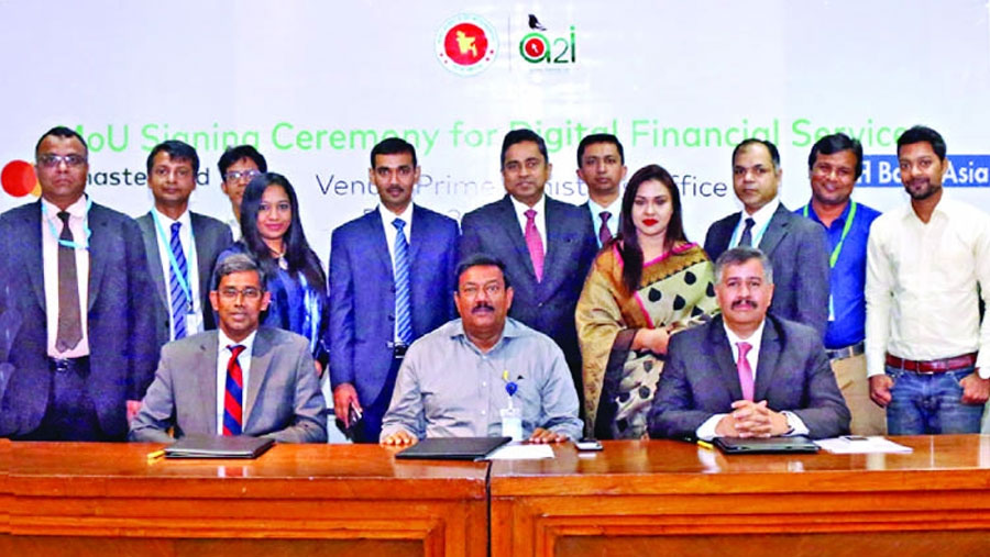 a2i, Mastercard, Bank Asia ink MoU for DFS