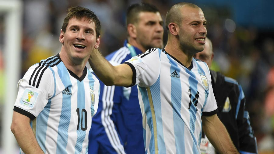 Messi and Mascherano reaches Moscow