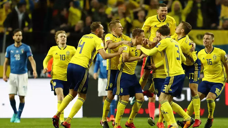 Sweden beat Italy in WC play-off first leg