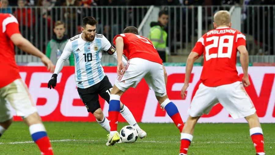 Argentina beat Russia in friendly