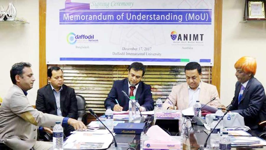MoU signed between DEN, ANIMT