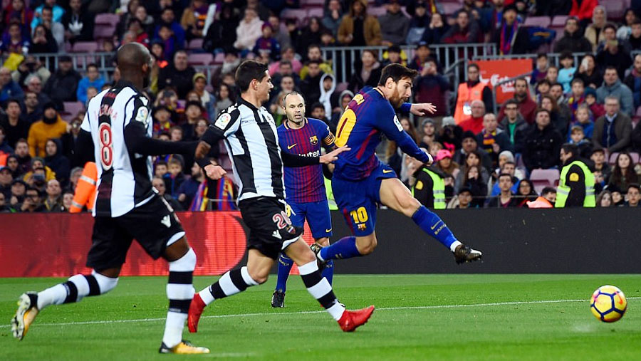 Messi, Suarez and Paulinho net in routine win