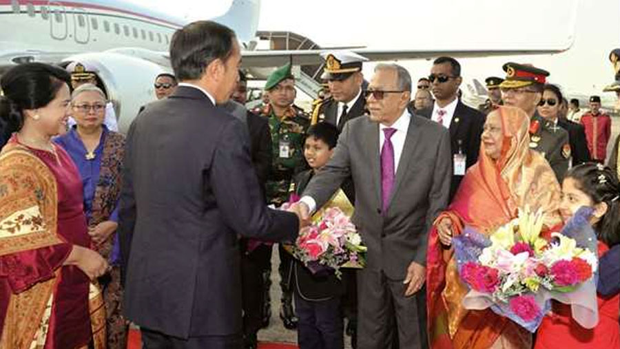 Indonesian President given warm reception