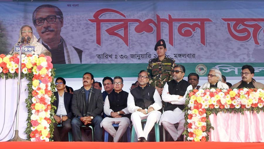 Sheikh Hasina launches polls campaign