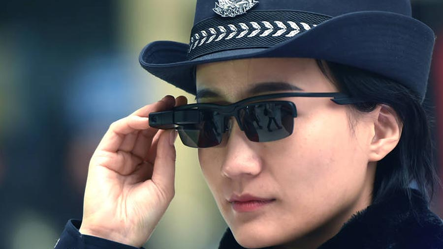 Chinese police unveil camera sunglasses