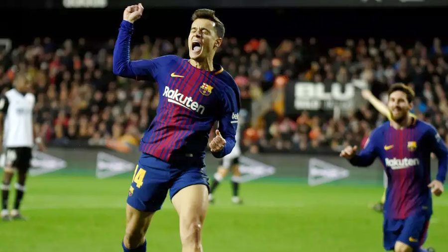 Coutinho scores first Barca goal in semi-final win