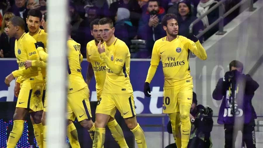 Neymar nets winner as PSG wins at Toulouse