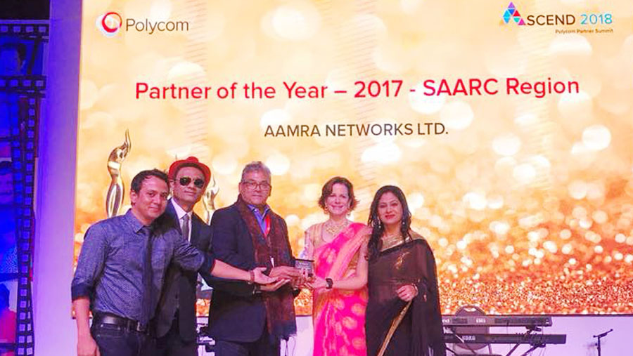 aamra wins Polycom Partner of the Year award 2017