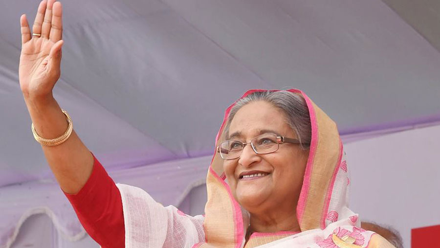 Sheikh Hasina off to Singapore