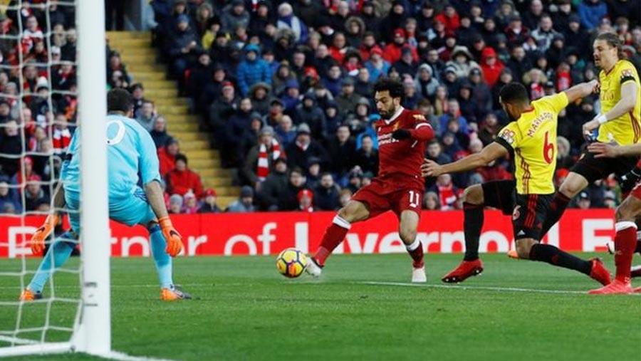 Salah scores 4 in win over Watford