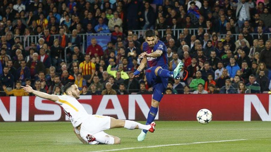 Barca secure big win as Roma self-destruct