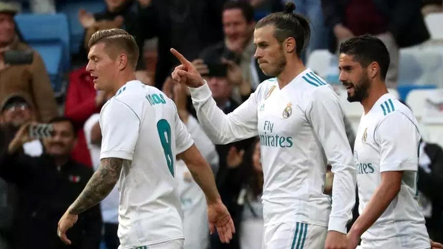 Bale hits brace in thumping Madrid win