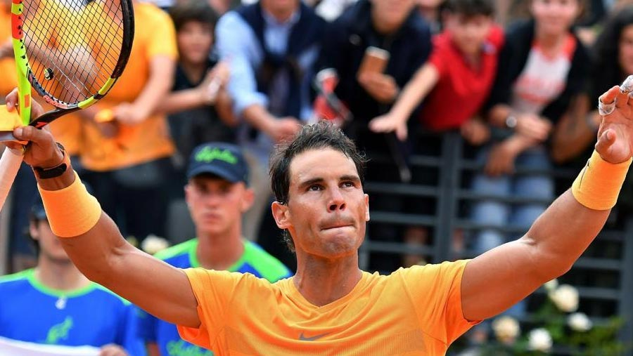 Nadal powers into 3rd round in Rome