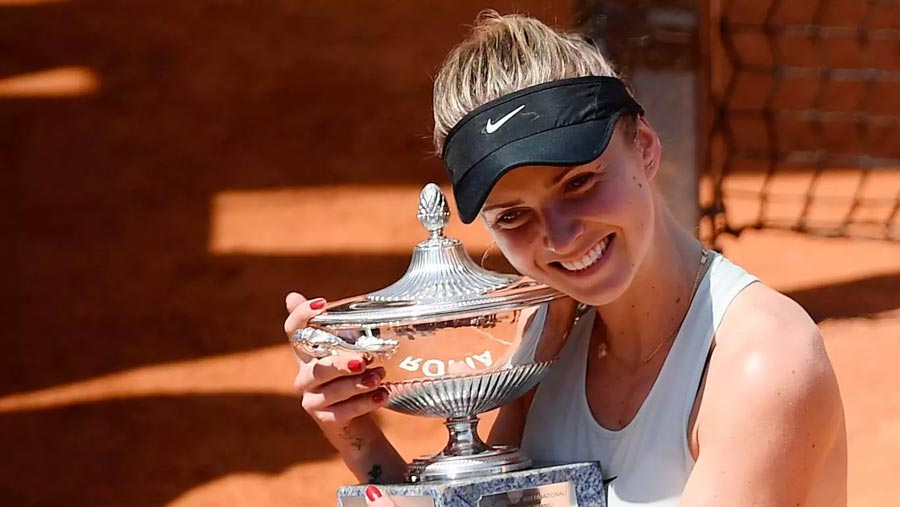 Svitolina stuns Halep to clinch Italian Open title