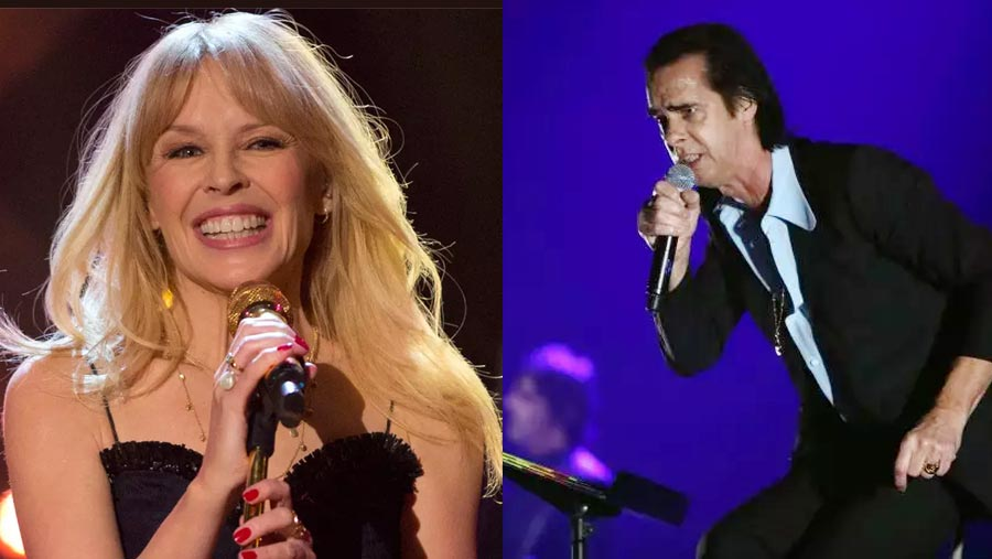 Kylie joins Nick Cave on stage in London