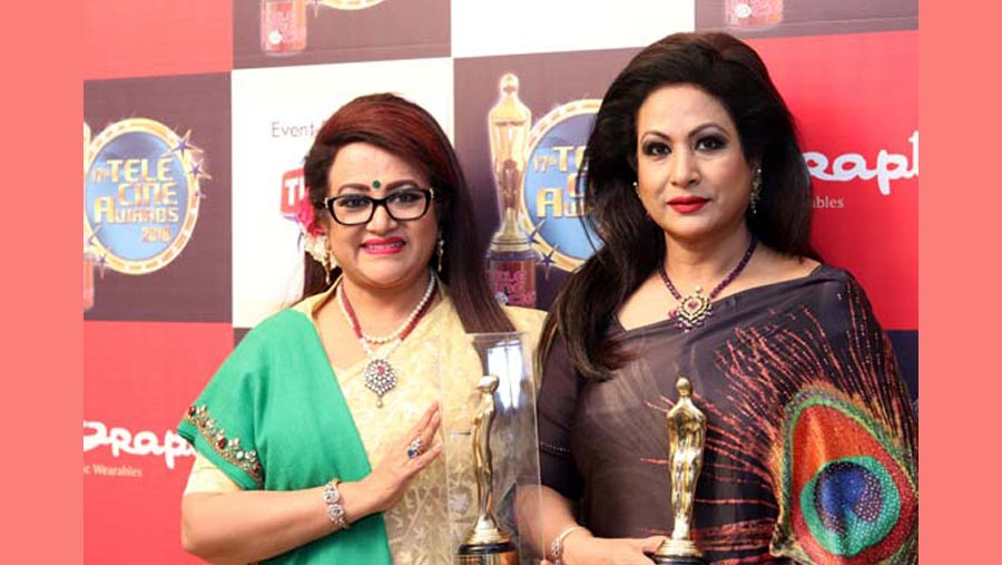 Bobita and Champa honoured in India