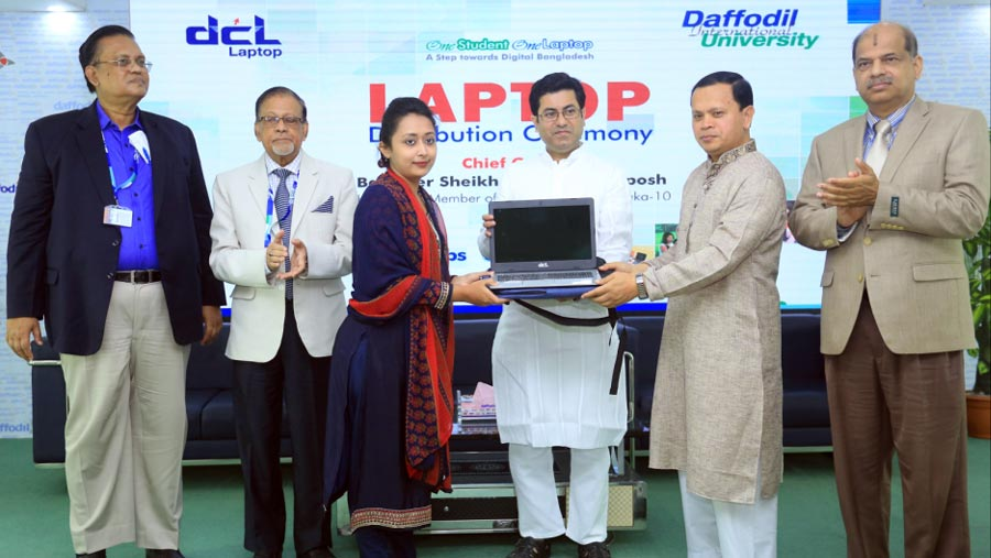 1500 students receive free DCL Laptop at DIU