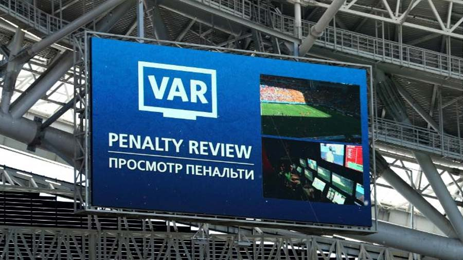 VAR used for first time in World Cup match