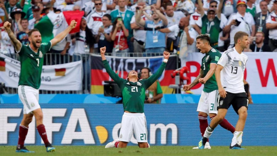Mexico stun champions Germany