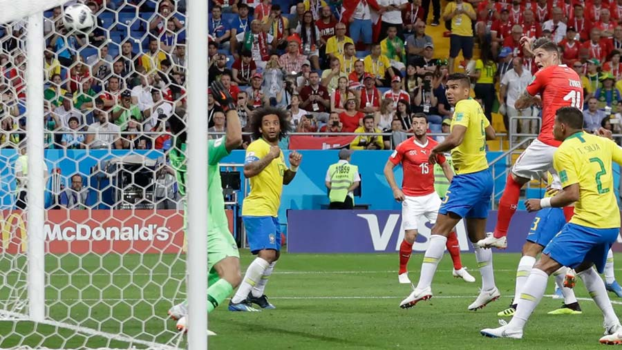 Swiss hold favourites Brazil to draw