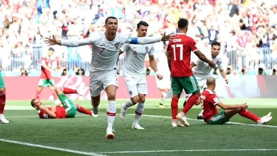 Portugal beat Morocco as Ronaldo scores