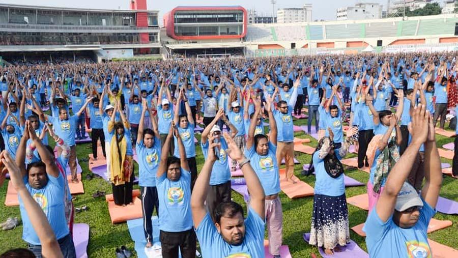 Yoga Day celebrations in city