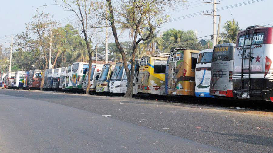 Public buses go off in city and several districts