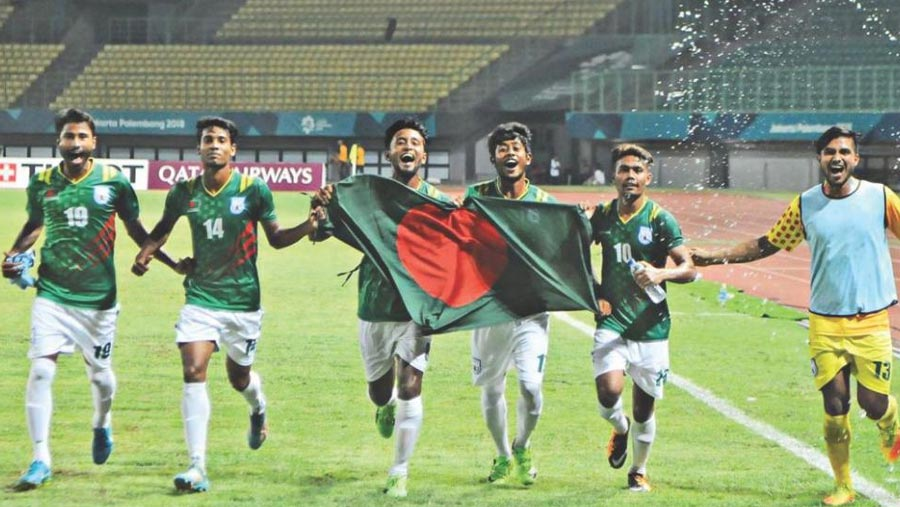 Bangladesh beat Qatar in Asian Games football