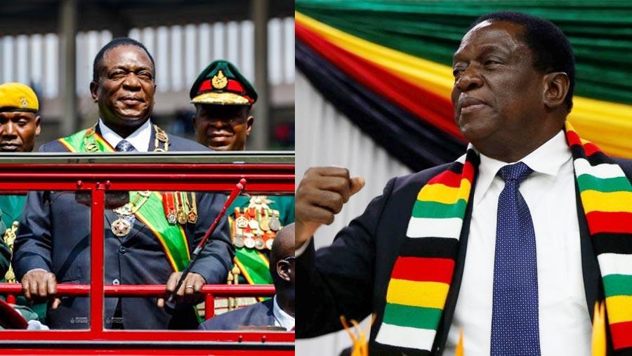 Zimbabwe president takes oath