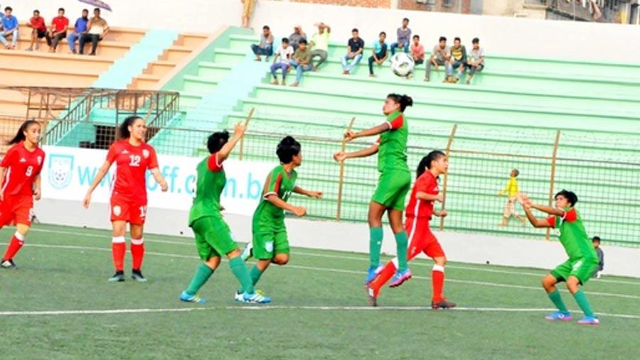 Bangladesh U-16 girls crush Lebanon 8-0