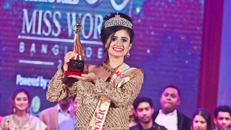 Oishee crowned Miss World Bangladesh 2018