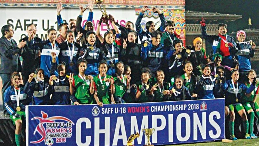Bangladesh clinch SAFF U18 Women's Championship title