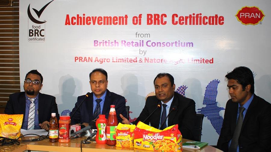 PRAN achieves BRC Certificate