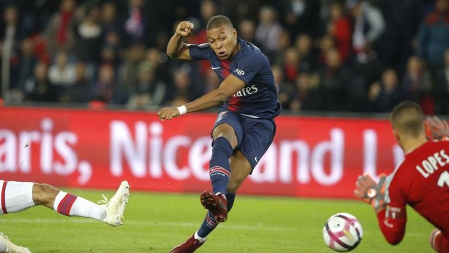 Mbappe scores four as PSG thrash Lyon