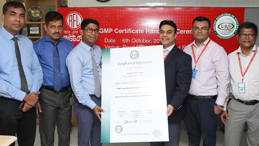 RFL receives GMP Certificate