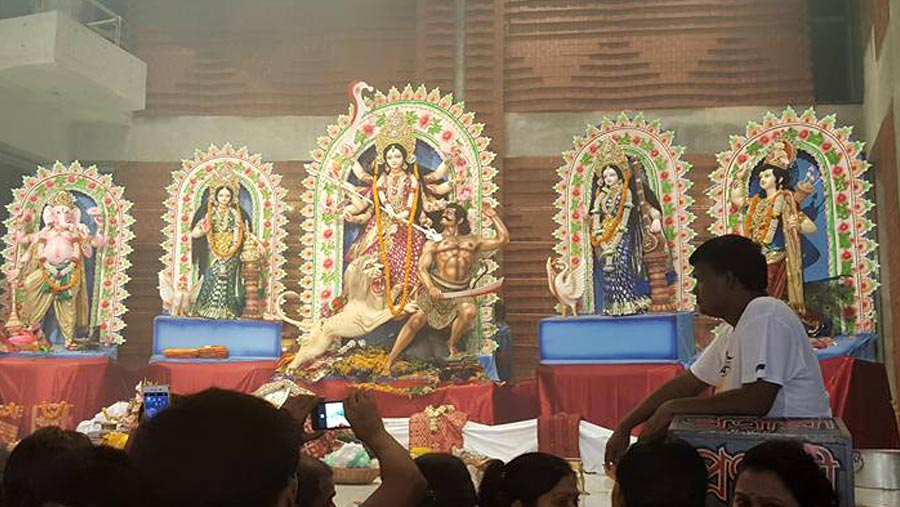 Durga Puja begins amid festivity