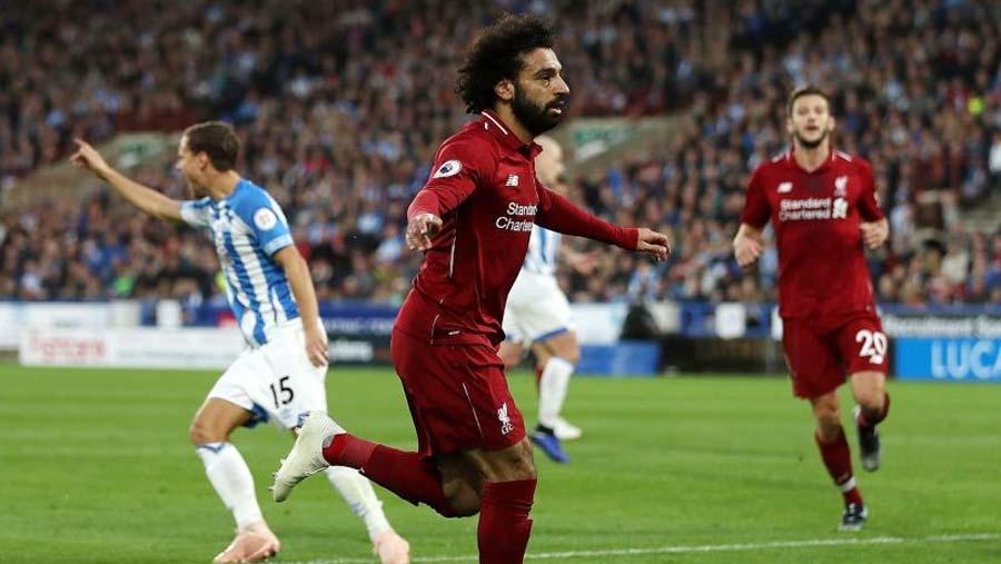 Salah scores in Liverpool's win at Huddersfield