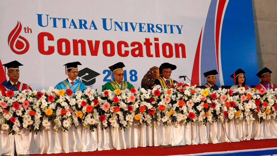 6th Convocation-2018 of Uttara University