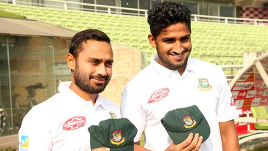 Mithun and Khaled handed Test debut