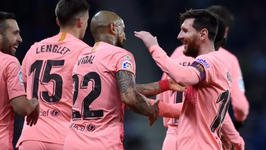 Messi double as Barca beat Espanyol