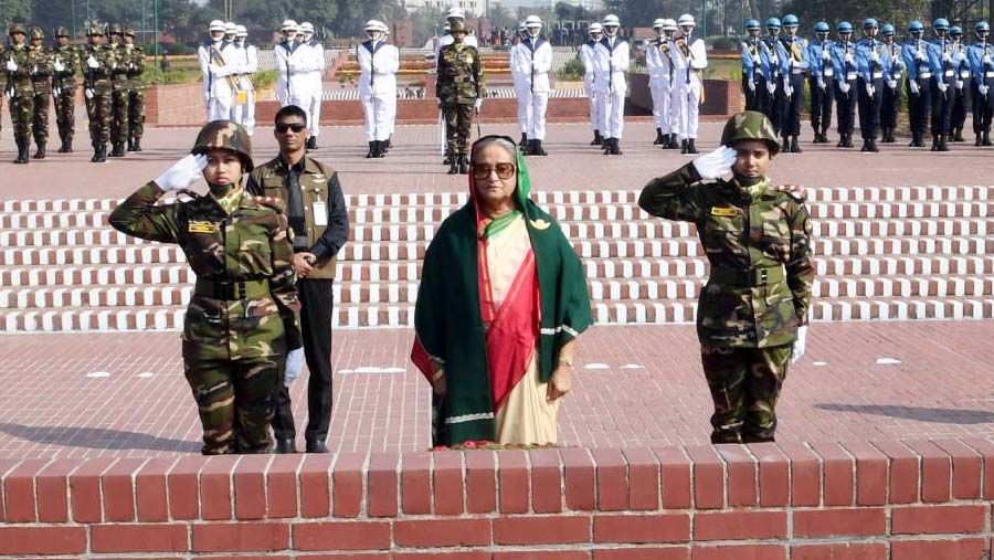 PM pays tribute to Liberation War martyrs