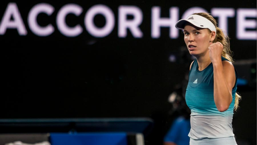 Wozniacki launches Australian Open defence
