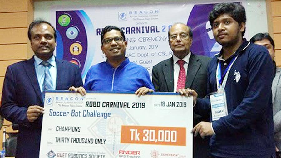 DIU clinch the title of BUET Robo Carnival