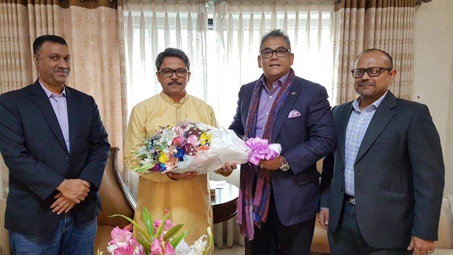 aamra congratulates Shahriar Alam