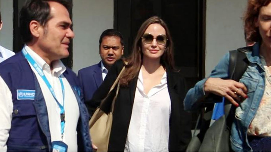 Angelina Jolie visits refugee camps in Cox's Bazar