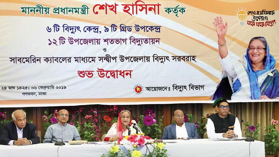 PM opens six power plants, nine grid stations