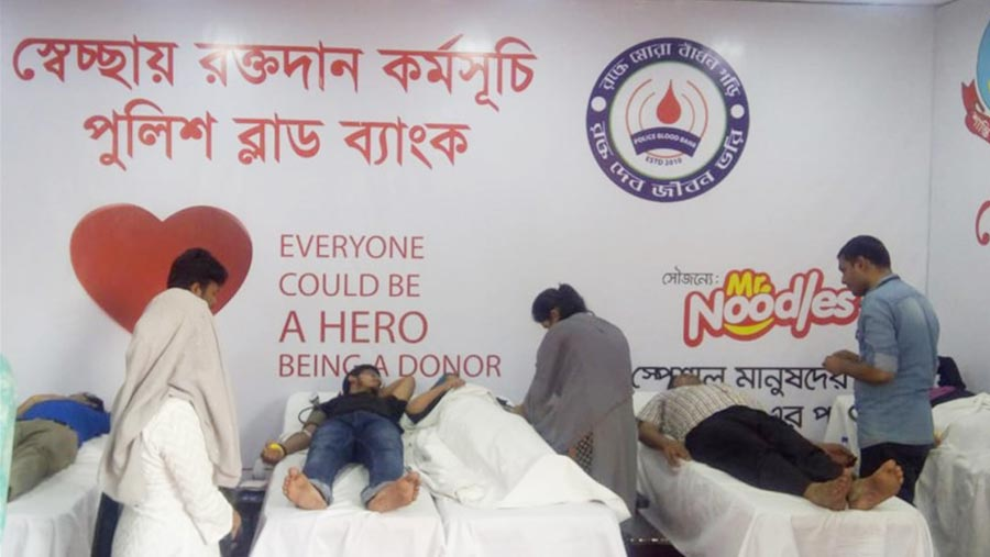 Mr. Noodles sponsored blood donation campaign